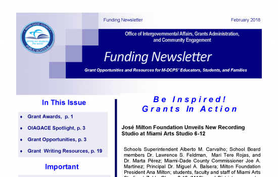 Funding Newsletter
