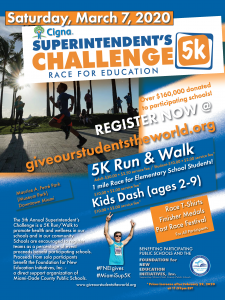 Superintendent's 5K Run/Walk Challenge-Race for Education @ Maurice A. Ferré Park | Miami | Florida | United States