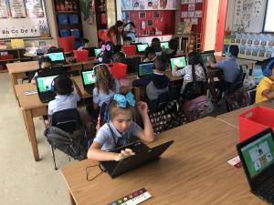 Students working on iReady